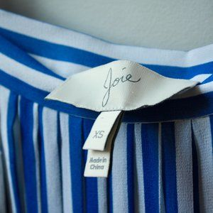 Joie Striped Silk Midi Skirt